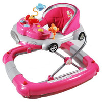 Fuchsia Pink 2-in-1 Baby Walker & Rocker