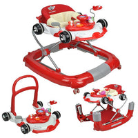 Racing Car 4-in-1 Baby Walker & Rocker