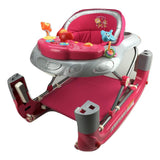 Pink Car 2-in-1 Baby Walker & Rocker - Grace Baby