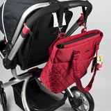 Bellotte Atelier Nappy Bag - Red Diamond - Grace Baby