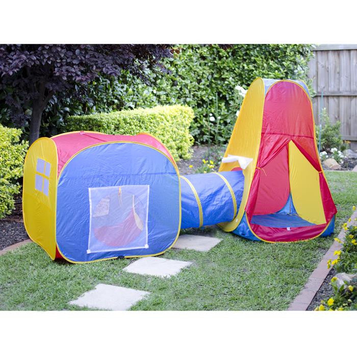 Kids Pop Up Play Tent Crawling Tunnel Set - Grace Baby