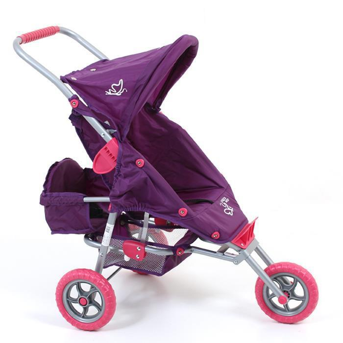 Valco Baby Mini Marathon Doll Stroller with Toddler Seat - Purple - Grace Baby