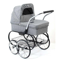 Valco Baby Mini Royale Dolls Pram - Grey Marle