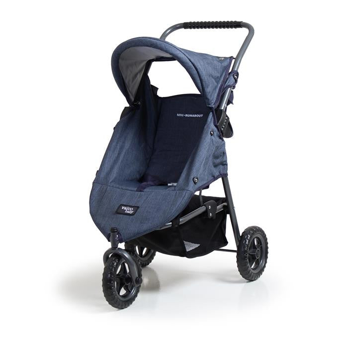 Valco Baby Mini Runabout Doll Stroller - Denim - Grace Baby