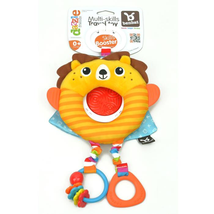 BenBat Dazzle Friends Clip On Travel Toy - Lion - Grace Baby