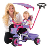 Eurotrike - Ultima Plus Auto Steer with Canopy - Pink - Grace Baby