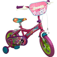 Sparkle Fuchsia Flower 12 Inch Girls Bike Pavement Cycle with Training Wheel