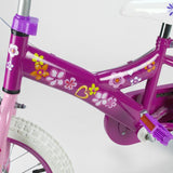 14 inch 34cm Girl Deluxe Bicycle Pink Bike with Training Wheels