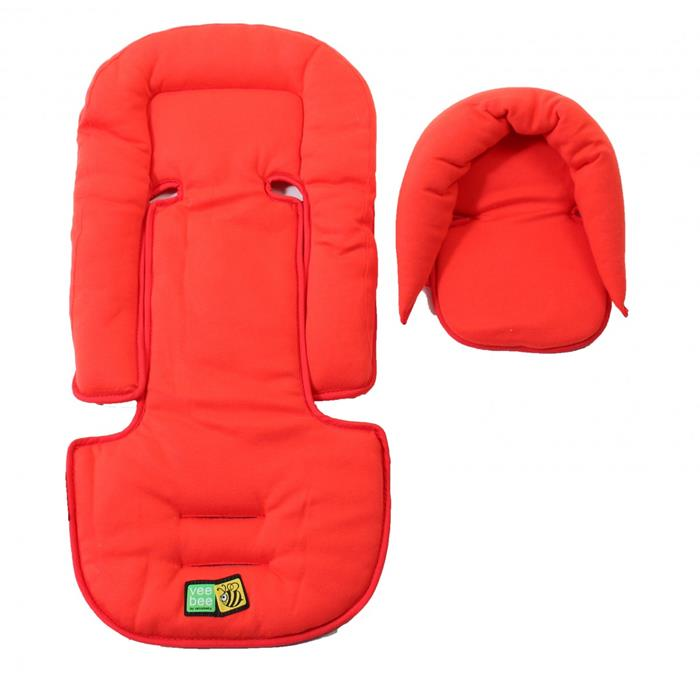 Vee Bee Allsorts Seatpad & Headhugger - Cherry - Grace Baby