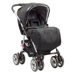Steelcraft Acclaim Reverse Handle Pram - Black Circle