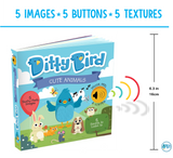Ditty Bird Interactive Musical Book - Cute Animals - Grace Baby