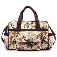 Bellotte Duffel Nappy Bag - Brown flower - Grace Baby