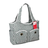 Bellotte Tote Nappy Bag - Grey White Dots - Grace Baby