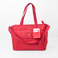 Bellotte Bear Tote Nappy Bag - Red - Grace Baby