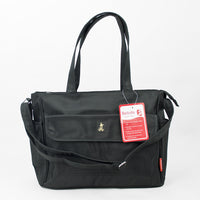 Bellotte Bear Tote Nappy Bag - Black - Grace Baby