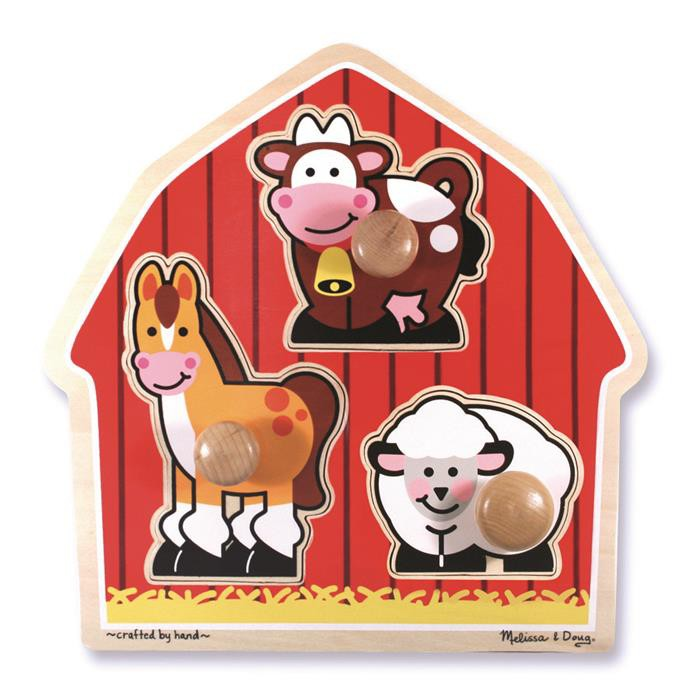 Melissa Doug Jumbo Knob Puzzle Barn Animals