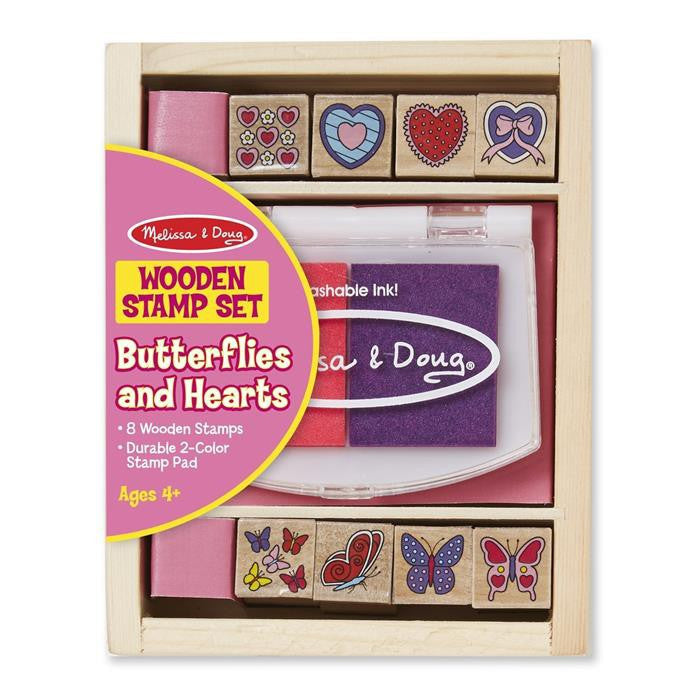 Melissa & Doug - Butterfly And Hearts Stamp Set - Grace Baby