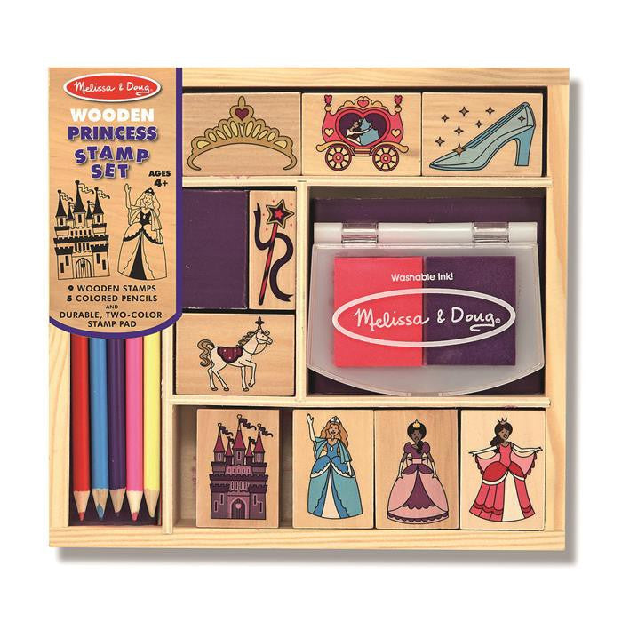 Melissa & Doug - Wooden Princess Stamp Set - Grace Baby
