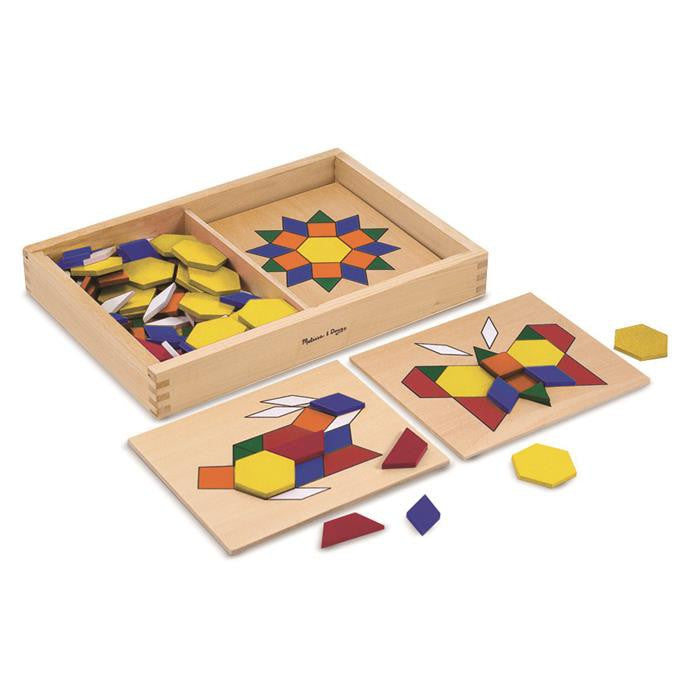 Melissa & Doug Classic Toy - Pattern Blocks And Boards - Grace Baby