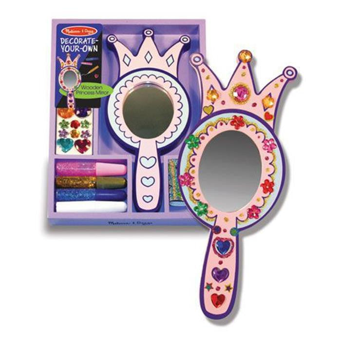 Melissa & Doug Decorate-Your-Own - Wooden Princess Mirror - Grace Baby