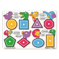 Melissa & Doug - Shapes Peg Puzzle - Grace Baby