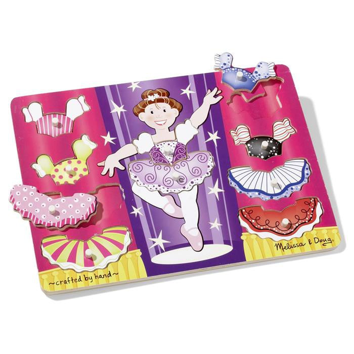 Melissa & Doug - Ballerina Dress-Up Peg Puzzle - Grace Baby