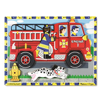 Melissa & Doug Chunky Puzzle - Fire Truck - Grace Baby