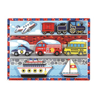 Melissa & Doug Chunky Puzzle - Vehicles - Grace Baby
