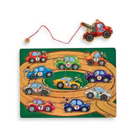 Melissa & Doug 10-Piece Magnetic Towing Game