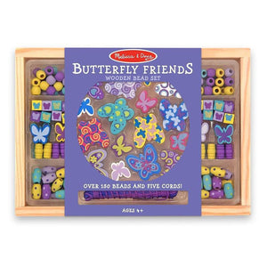 Melissa & Doug - Wooden Bead Set - Butterfly Friends