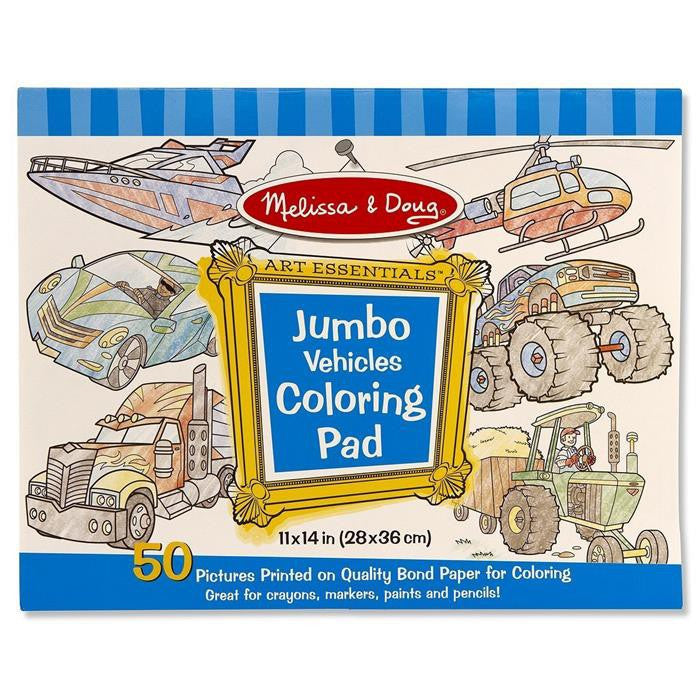 Melissa & Doug - Jumbo Colouring Pad - Vehicles - Grace Baby
