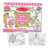 Melissa & Doug - Jumbo Colouring Pad Multi-Theme Pink