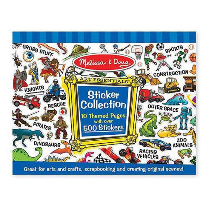 Melissa & Doug - Sticker Collection - Blue - Grace Baby
