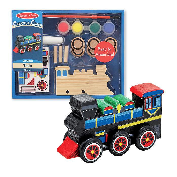 Melissa & Doug Decorate-Your-Own - Wooden Train - Grace Baby