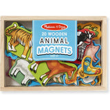 Melissa & Doug Classic Toy - Animal Magnets In A Box of 20 - Grace Baby