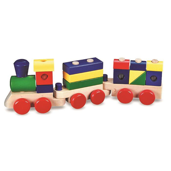 Melissa & Doug Classic Toy - Wooden Stacking Train