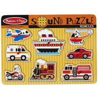 Melissa & Doug - Vehicles Sound Puzzle - Grace Baby