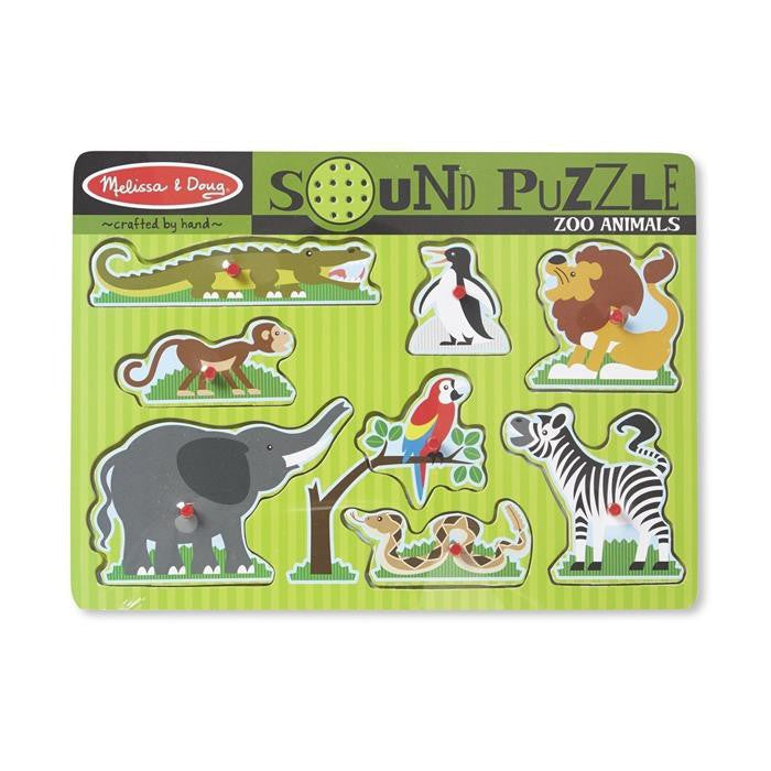 Melissa & Doug - Zoo Animals Sound Puzzle - Grace Baby
