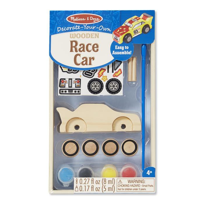Melissa & Doug Decorate-Your-Own - Wooden Race Car
