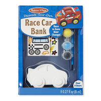 Melissa & Doug Decorate-Your-Own - Race Car Bank - Grace Baby