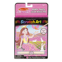 Melissa & Doug - On The Go - Scratch Art Color-Reveal Pad - Fairy Tales