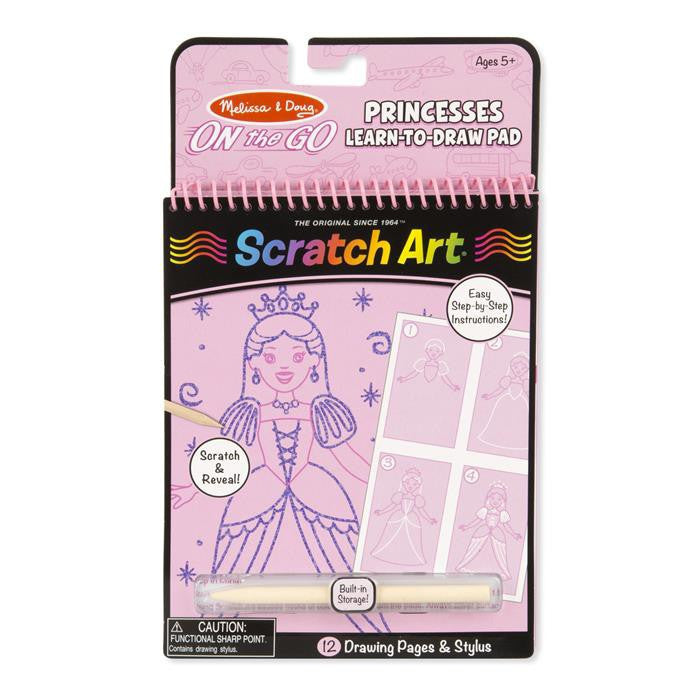 Melissa & Doug - On The Go - Scratch Art Learn-to-Draw - Princesses - Grace Baby