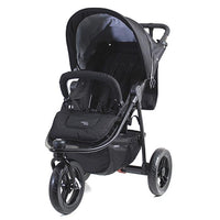 Valco Baby Nomad 3 Wheel Pram - Coal Black - Grace Baby