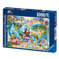 Ravensburger - Disney World Map Puzzle 1000pc - Grace Baby