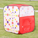 Kids Polka Dots Pop Up Play Tent Cubby House - Grace Baby