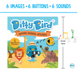 Ditty Bird Interactive Musical Book - Safari Animal Sounds