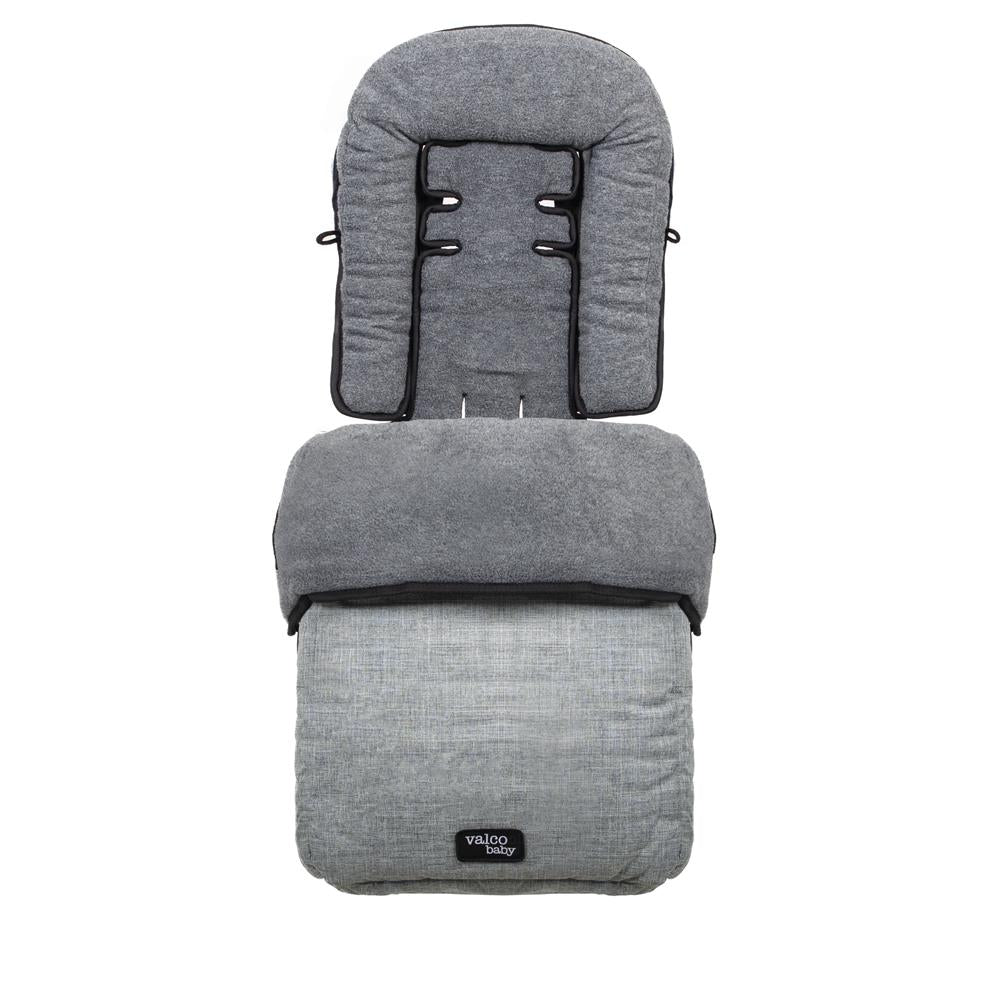 Valco Baby Snug Footmuff Tailor Made - Grey Marle