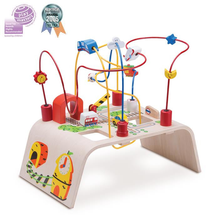 Wonder World Wooden Bead Maze Play Table - City - Grace Baby