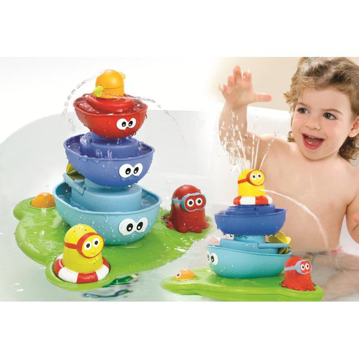 Yookidoo Baby Bath Toy Stack N Spray Tub Water Play Fountain | Grace ...