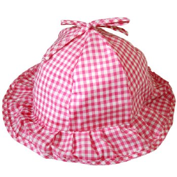 Pink Gingham Hat
